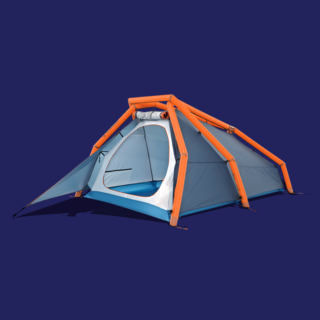 For those who would forgo indoor plumbing more readily than modern design, Hamburg-based Heimplanet make striking, functional camping and travel equipment. Their geodesic Wedge tent is easy to handle and inflate, and even easier on the eyes.