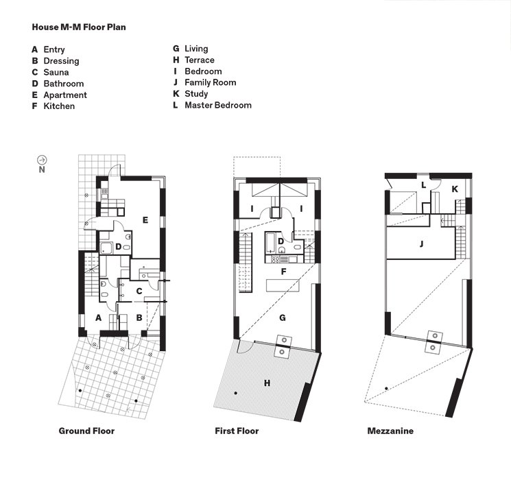 House M-M Floor Plan  Photo 12 of 12 in This Cozy Finnish Home Would Not Be Complete Without a Sauna