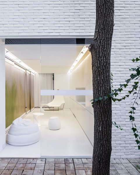NArchitekTURA designed the apartment so it could also serve as a showroom, hotel room, or art gallery.