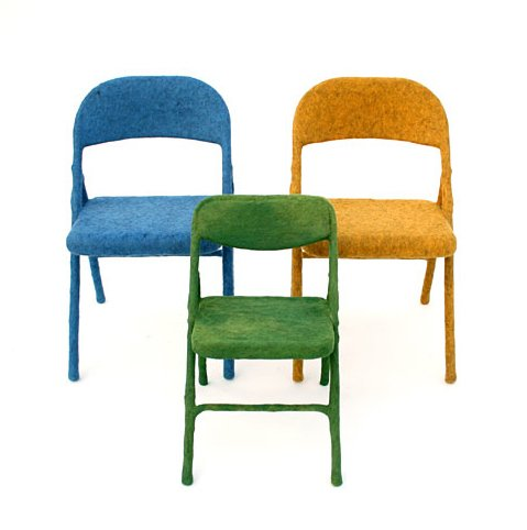 A trio of Aguiñiga's Felt Chairs.  Photo 4 of 4 in Dwell on Design Artist-in-Residence: Tanya Aguiñiga