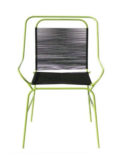 The Alaska Chair is made of steel and seine twine.  Photo 3 of 4 in Dwell on Design Artist-in-Residence: Tanya Aguiñiga