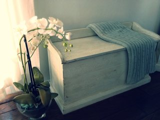 Shabby Chic Bench Chest by Dolenz and Daughters.