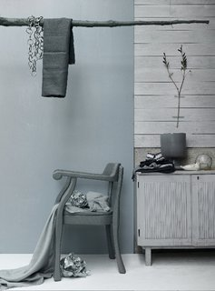 A textured grey interior juxtaposition in collaboration with photographer Petra Bindel.