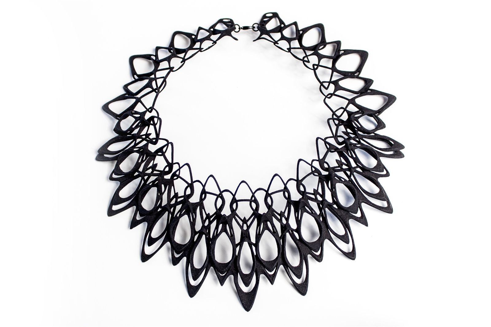 The Stria necklace.  Photo 2 of 5 in Stunning Modern 3-D Printed Jewelry