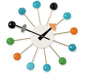 Produced in 1948, the Ball Clock's playful colors speak to the nation's optimism and the scientific potential of the era. But the shape—reminiscent of an atom—also carries the shadow of atomic warfare, which haunted the national psyche during the Atomic Age.