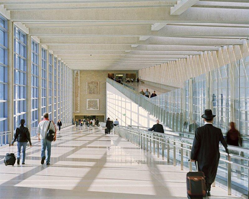 Ben Gurion International Airport, Tel Aviv, by Moshe Safdie & Associates Architects.  Jet Set: 8 Modern Airport Designs by William Lamb