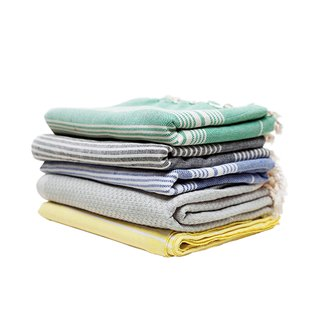 What's your favorite kind of towel?   We use our Turkish Pestemal towels. Hand-woven by traditional methods, using 100 percent Turkish cotton, and dyed with vegetable dyes, the pestemal is famous for its absorbency and softness. We also love using it as a tablecloth, a picnic blanket, a light throw, or even a beautiful shawl. They're so versatile.  Turkish pestamel towels, $39.