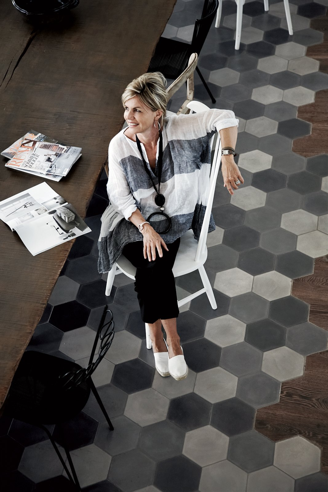 Andrea Falkner-Campi and her husband commissioned designer Paola Navone to renovate an old tobacco factory in Spello, Italy.  Photo 2 of 11 in Paola Navone's Industrial Style Renovation in Italy