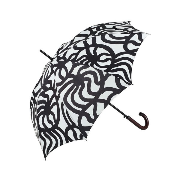 The bold and graphic pattern of the Joonas Stick Umbrella from Marimekko almost makes you wish for rain. A departure from most umbrellas, which are usually solid black or muted in pattern, the Joonas adds personality to your rain protection.