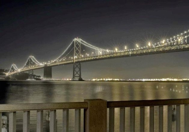 An artist's rendering of The Bay Lights. Courtesy of The Bay Lights.  Photo 1 of 1 in The Bay Lights Begins Tonight!