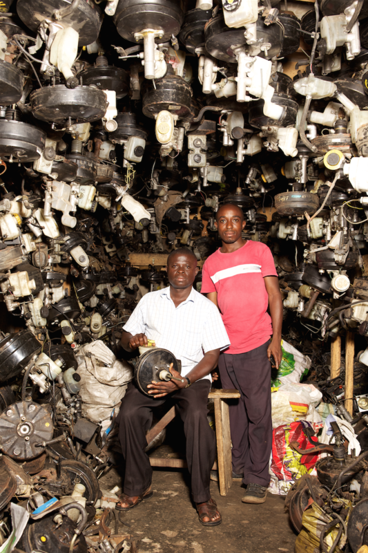 The scraps originate from European cars, and over 200,000 workers in the neighborhood recycle them into vehicles that suit African roads.