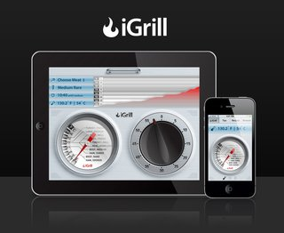 iGrill is a meat thermometer that wirelessly communicates with your smart device. This is pretty neat in and of itself, but the implications it represents are something even more interesting. Have smart devices finally made the jump into food preparation? Will the day soon come when your phone will be able to brew you coffee and fry you up some bacon with the touch of a button or a spoken command?
