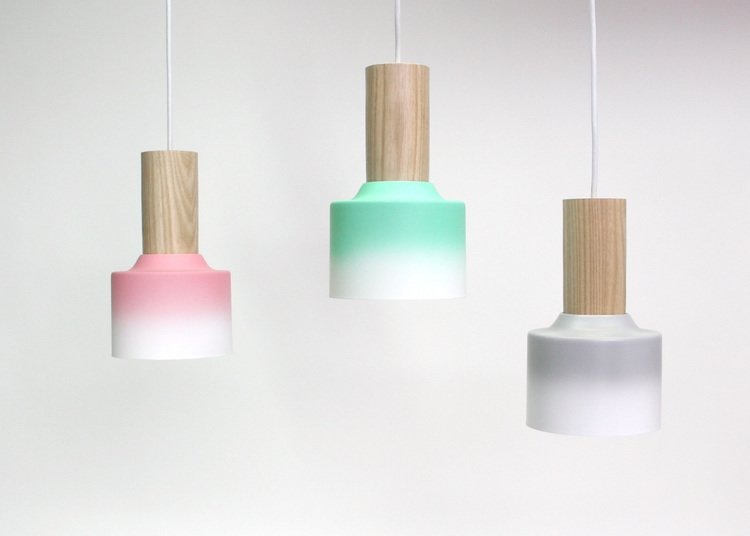Florida. Husband-and-wife team Damm Design create sculptural lighting designs that beam with personality. Their Hombre pendants are composed of recovered lighting parts, refinished in an ombre fade by a local motorcycle painter.  Reasons to Love Design Made in America by Dwell