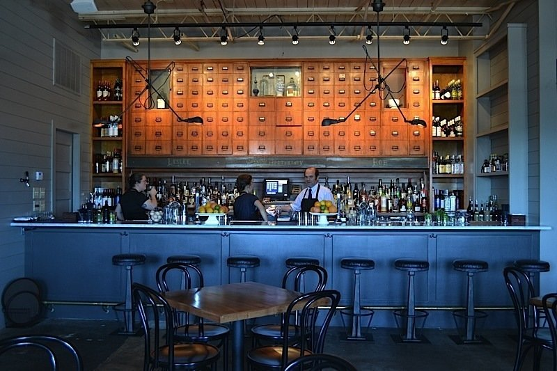 Mississippi. The Apothecary at Brent's Drugs is a modern cocktail bar in Jackson, situated in the back of a historic drug store (now diner) from 1946. Old-school touches include a card cabinet system above the bar.  Reasons to Love Design Made in America by Dwell
