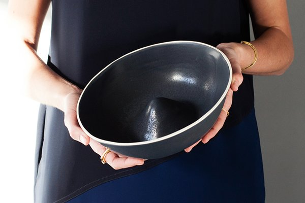 What do you wish was easier to make and source in the USA?  Extremes exist in the production of home goods. There are either very small-scale artisans or established mass producers; our challenge is finding and supporting those who wish to operate somewhere in the middle.   Mountain Bowl by Felt and Fat, $70.