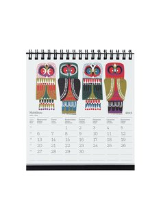Marimekko Kukkuu Table Calendar, $32, from EQ3  Long live the desktop calendar! Marimekko's is bright and modern with Finnish, Swedish, and English text. Available starting December 2 at EQ3.