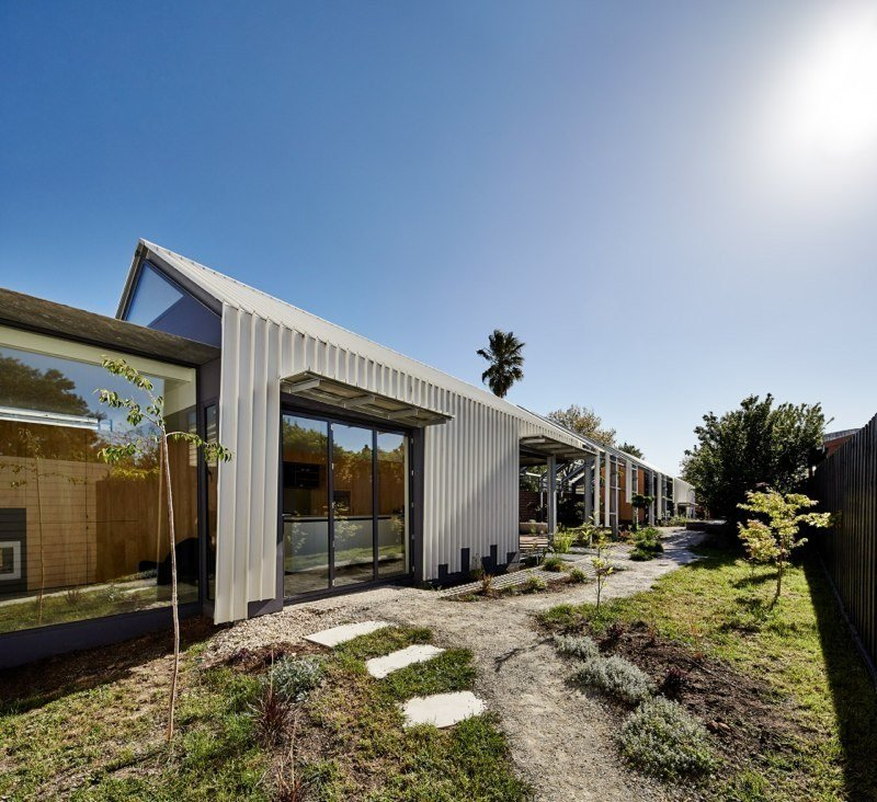 In their renovation, Austin Maynard Architects decided to leave the structure deliberately incomplete. The existing bungalow transitions into an empty frame that houses an open-air corridor.  Cut Cut Paw Paw by Allie Weiss from Incredibly Clever Renovations