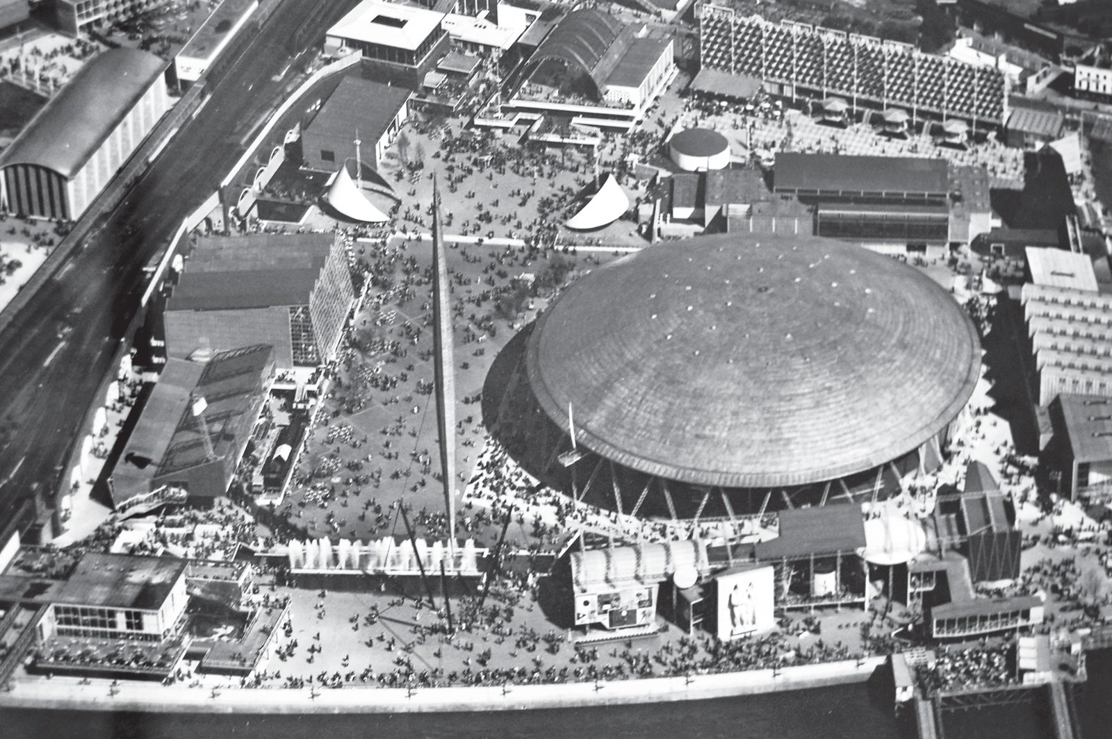 London's no-longer-extant Dome of Discovery welcomed some eight million visitors during the Festival of Britain in 1951. Photo courtesy CHELSEA Space.  Photo 1 of 5 in Prefab Icon: Dome of Discovery by Ralph Tubbs