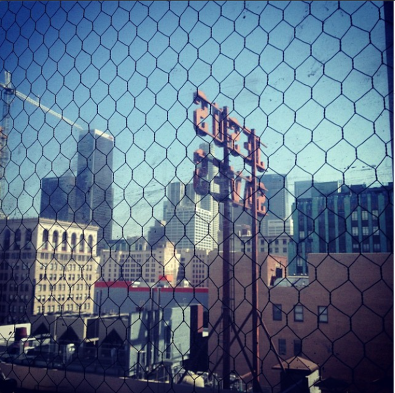 """Morning, #Ace #Hotel DTLA, last day of #dod2014"""