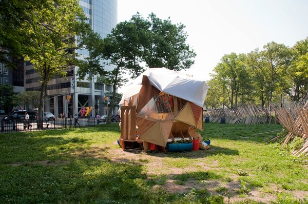 Last summer, four small huts colonized New York City. Rather than ramshackle shanties, however, each one was a model of self-sufficiency. Meet the Flock Houses, brainchildren of artist and activist Mary Mattingly.