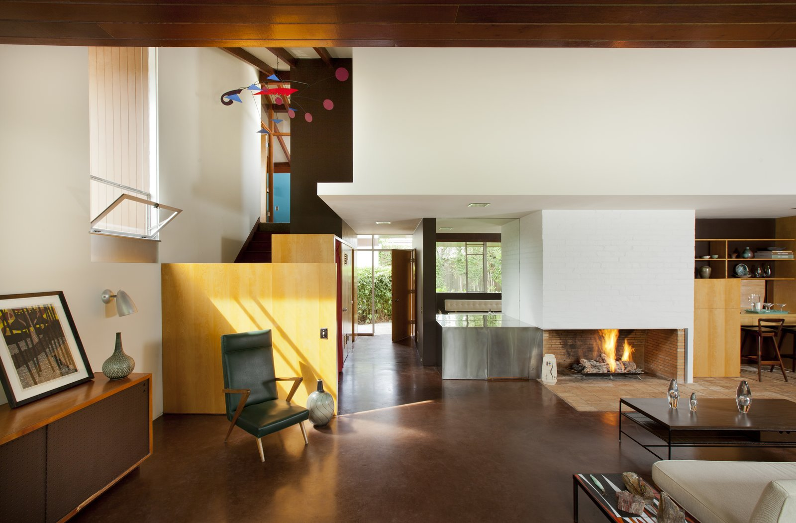 Built in 1953 by Richard Neutra in the city of Long Beach, Hafley House remained the family home of Olan Hafley, a General Motors executive, and his wife Aida, until her death in 2010. The property's new owners painstakingly restored the home to its midcentury modern splendor.  Photo 1 of 7 in 7 Preserved Modern Architecture Icons in Los Angeles