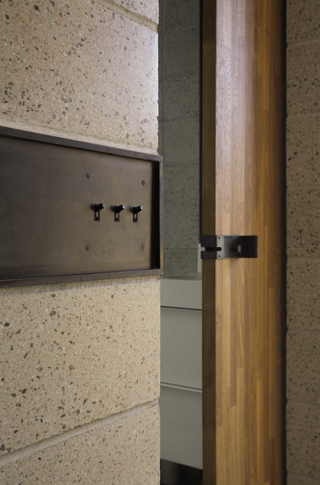 Hall paid special attention to details like custom light switches and door latches, since they tend to stand out more in small spaces.  Photo 6 of 8 in 8 Creative Ways to Let the Little Details Shine from Micro Dwellings in Phoenix Get Creative With Under 500 Square Feet
