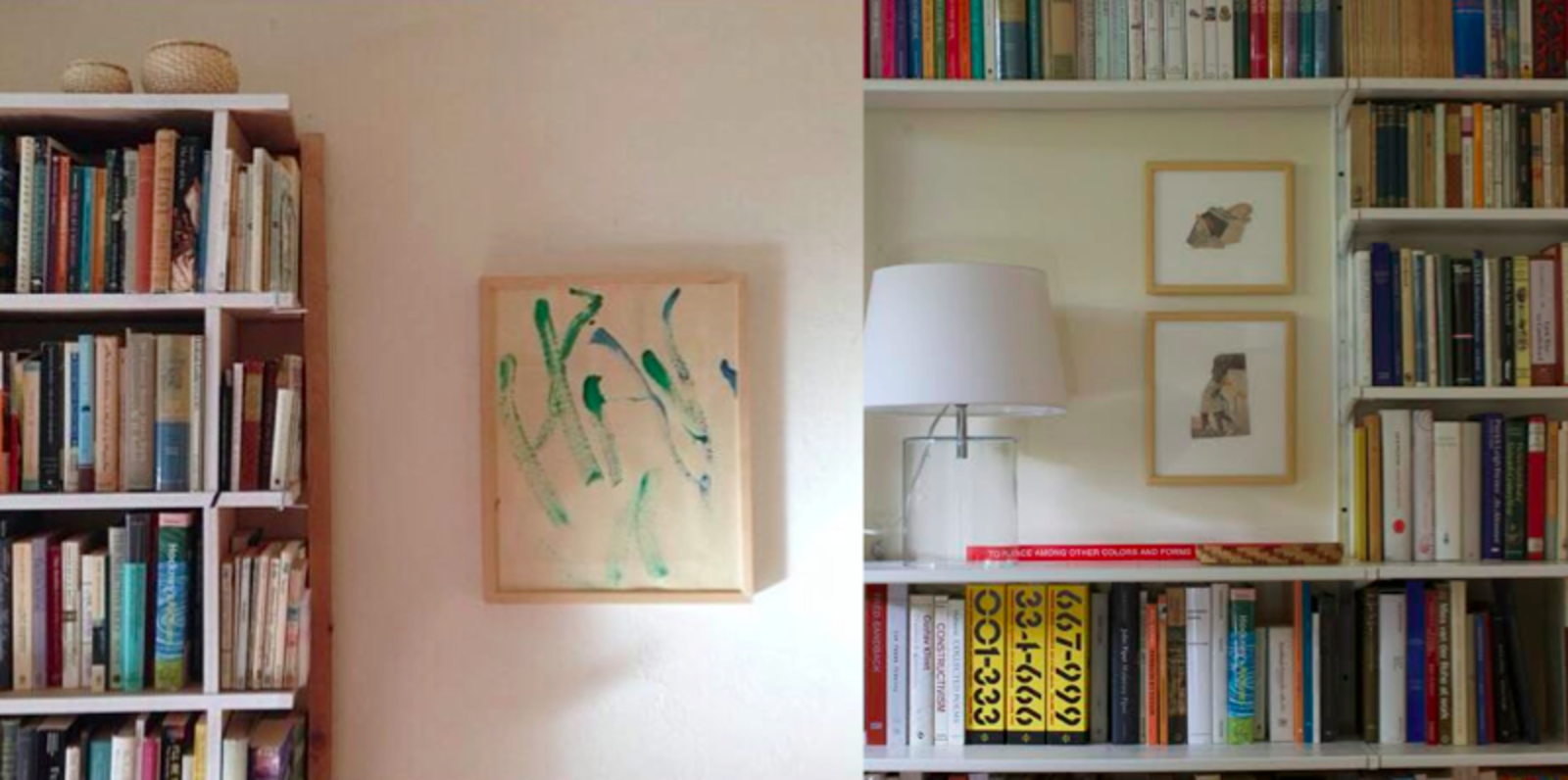 Heywood lives in Oakland with his wife, two small children, and lots of books. The young boys provide the abstract paintings that grace the walls.  Photo 6 of 6 in A Bibliophile Shares His Book Storage Secrets