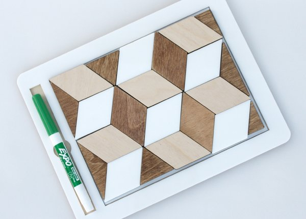 A toy that promotes analog learning and creativity in a digital world without technology? Meet the anaPad 2, $40-70—a magnetic white board housed inside a white acrylic frame with a wooden back and 3D geometric magnetic apps. Perfect for what kids do best—doodling, endlessly arranging things around, and game playing.