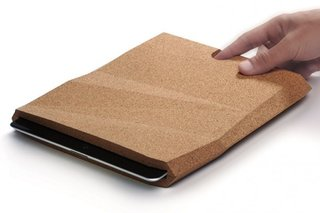 """Protect your mini computers from the dreadful fall with the iCorkCase by pomm.design.studio. Made of two smooth, gently leveled cork parts, the iCorkCase was designed specifically for the iPad 2 and new iPad (3rd and 4th generation). Says pomm, """"From the beginning we wanted to make something entirely new to revolutionize the standard products currently on the market."""""""