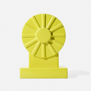 Ettore Sottsass's influence is everywhere in 2014, from saturated colors to postmodern silhouettes to a retrospective exhibition during Milan Design Week. Now you can snap up a piece of the magic—his Yantra series vase, in bright yellow, will yield an estimated $1,000-$1,500 with no reserve.  (See some of Sottsass's private collection, auctioned off in late 2013 at Christie's.)