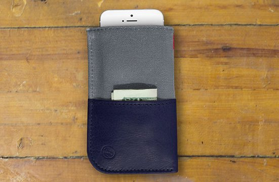 The wallet also comes in Navy.  Photo 5 of 6 in A Wallet for Your Phone?