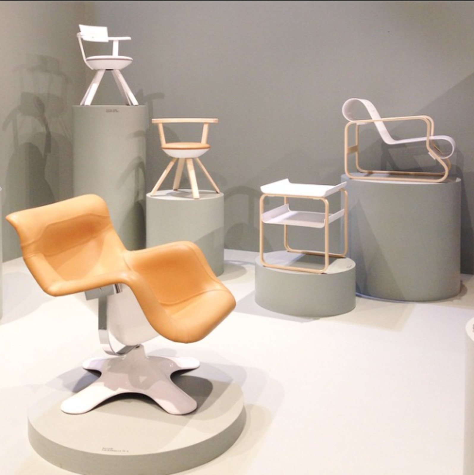 Aalto, Grcic, and Kukkapuro strikingly displayed at @ArtekGlobal.  Editors' Picks from Salone del Mobile 2015: Day One by Dwell