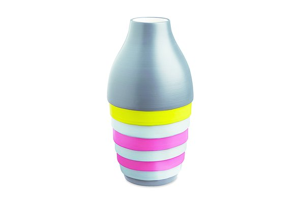"Xystum Color Block vase by CB2. Postmodernism appropriates classical cues in a Pop-y, contemporary manner. Therefore, this vase's name, a Greek architectural term loosely translated as ""portico,"" is apropos."