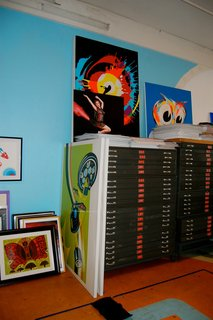 Kii recently scored these flat files. Too bad his poster collection won't all fit.