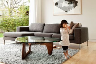 The iconic table that bears Isamu Noguchi's name was almost attributed to another designer, T.H. Robsjohn-Gibbings. Robsjohn-Gibbings tried to steal Noguchi's design while he was interred during World War II. After the war, Noguchi improved on the table and began producing it for Herman Miller.