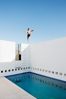 Geometric Pool with a View in Phoenix