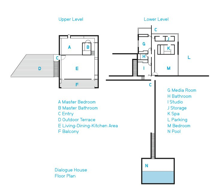 The spacious home's floor plan.  Photo 7 of 8 in This House Doesn't Hold Back and Embraces the Desert