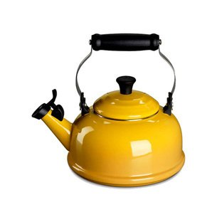 This vibrant Le Creuset teapot comes in various shades to add the perfect punch of color to your stovetop.