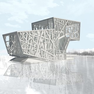 Rendering of the the proposed Floating House, 2009. Image provided by DIGSAU.
