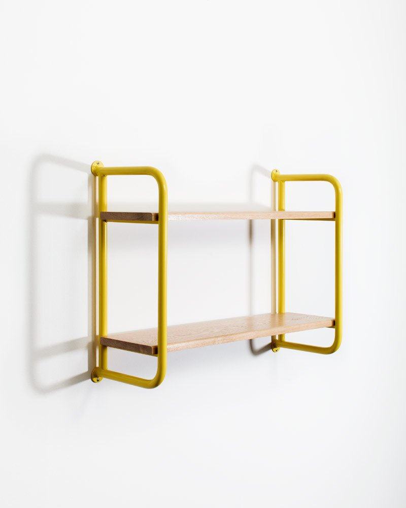 Belgian studio Ateliers J&J exhibited furniture and shelving with an industrial aesthetic.  Photo 8 of 16 in 11 Emerging Talents You Should Know from Salone Satellite 2015