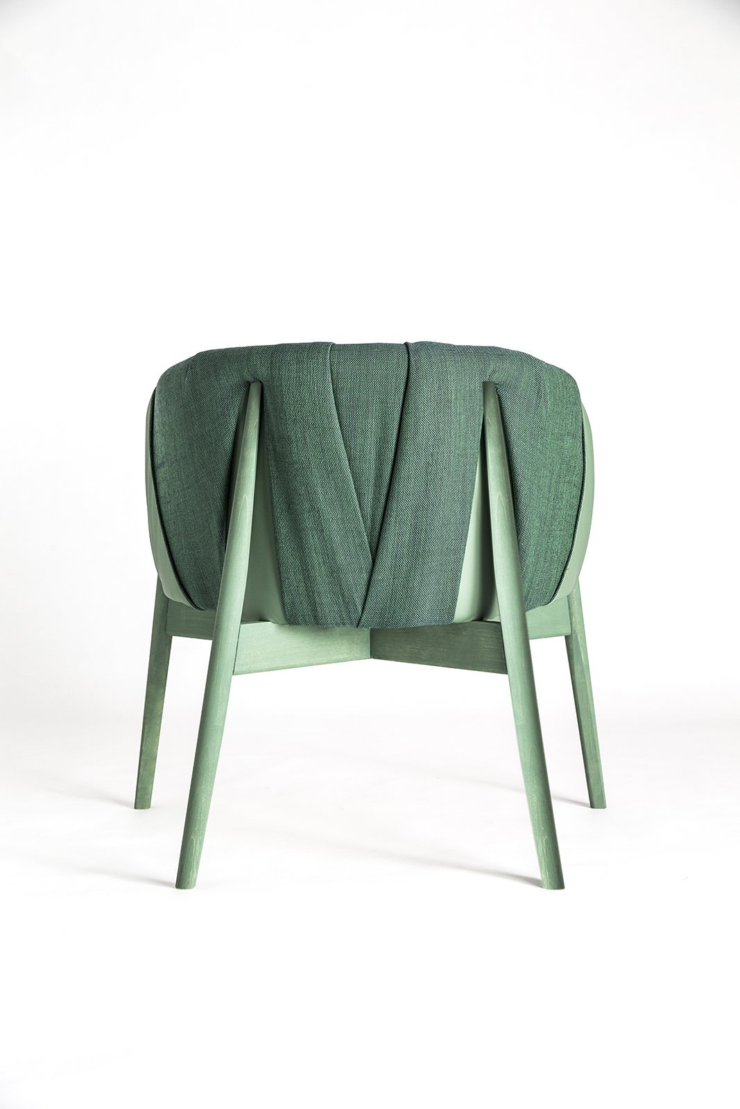 Frida Erson and Martin Eckerberg, co-founders of the Stockholm firm Formellt, designed an easy chair with upholstery that envelops the frame like a cocoon.  Photo 12 of 16 in 11 Emerging Talents You Should Know from Salone Satellite 2015