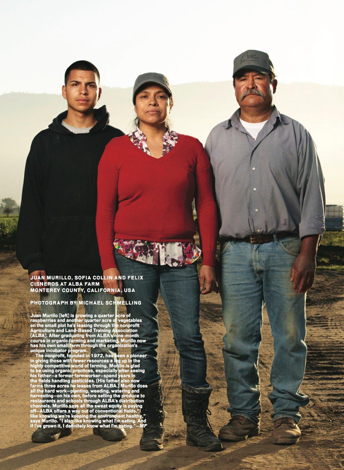 Meet the Modern Farmers: Juan Morillo, Sofia Collin and Felix Cisneros. Photo by: Michael Schmelling/Modern Farmer  Photo 2 of 2 in Modern Farmer