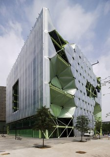 """David Garcia, head of the Institute for Architecture and Technology at the Royal Danish Arts Academy in Denmark, says we should fully integrate technology into building design. He calls out the Media TIC building in Barcelona by Cloud 9. """"The building uses new technology not as a gimmick, but as a new way to mitigate environmental challenges,"""" he says. """"The building fine-tunes its facades to shield itself from light and thermal heat from the sun."""""""