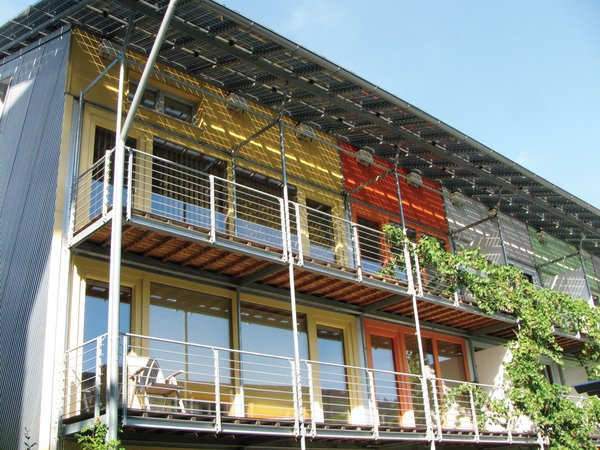 """Marcus Veerman, founder and CEO of Playgound Ideas, an organization that has given 250,000 children access to playspaces, highlights Freiburg, Germany. """"Freiburg is a community in southwest Germany that is striving toward complete sustainability,"""" he writes. """"It has a whole suburb built on sustainable principles. It was created out of a movement supported by all levels of government and community.""""  For more ideas, purchase a a copy of Designed for the Future."""