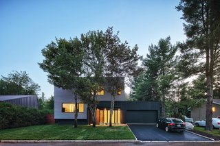 Sleek Renovation on a Tree-Lined Street in Quebec City