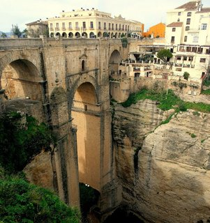 """Puente Nuevo, Spain-Three impressive bridges span the gorge that cuts through the southern Spanish town of Ronda. The """"new bridge"""" is the most dramatic. Photo: papalars"""