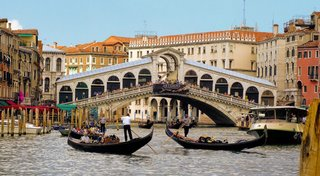 Rialto Bridge, Italy-The oldest and most famous bridge across the Grand Canal in Venice. Photo by: llamnudds