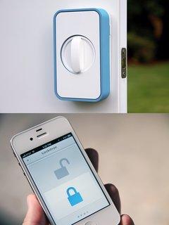 Smart Locks–No need to carry house keys ever again. Or wonder if you locked the front door when you left for work. Smart door locks work through an automated system you control via an app on your smartphone or other web-enabled mobile device. Whether you're letting the kids in the house after school or granting remote access to a neighbor to water plants or feed the family pet, smart lock technology gives you total control of your door locks from anywhere and at anytime.