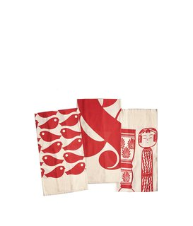 House Industries kitchen towels, $30 for a set of three, available from Heath Ceramics.  These 100% flour sack kitchen towels depicting ampersands, koi, and kokeshi will brighten any chef's day.