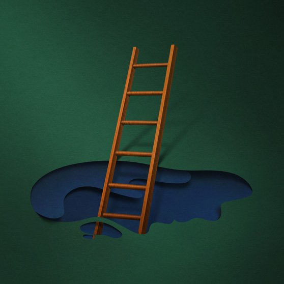 """Dear lady, can you hear the wind blow? And did you know, your stairway lies on the whispering wind?""  Graphic Designer We Love: Eiko Ojala by Eujin Rhee"
